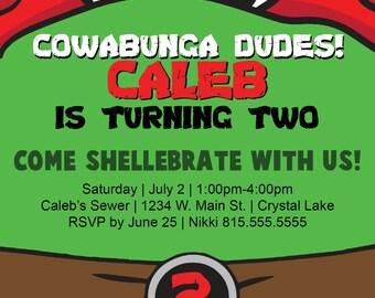 DIGITAL** Teenage Mutant Ninja Turtle Party Invitation