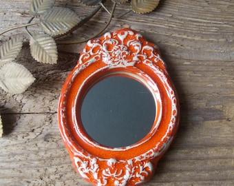 Vintage Frame Mirror / Small Wall Mirror / Rustic Shabby vintage