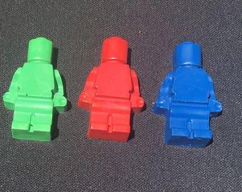 Lego Man Crayons Favors 10-25 bags- Lego birthday- Lego movie