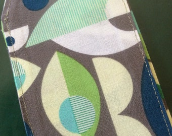 Geometric luggage tag, travel, backpack, gray, green, blue, destination wedding