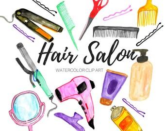 beauty salon art etsy rh etsy com hair stylist clipart images hair stylist clipart