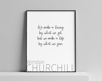 Inspirational, Quote, Printable Art, Wall Art, Home Decor, Minimalist, Typography, Digital Art, Kindness, Downloadable Prints, Churchill