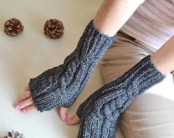 knit gloves birthday gifts|for|her fingerless gloves travel gift arm warmers winter gloves wife gift womens gloves fingerless mittens
