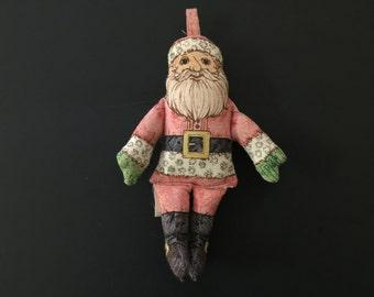 Hallmark Cards Cloth Santa Claus Ornament