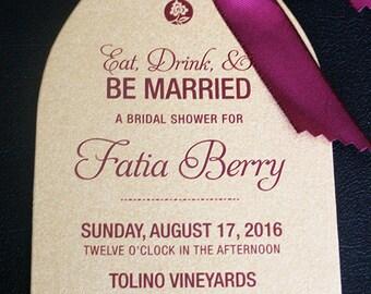 Wine Bottle Invitation   Wine Party Invite   Champagne Party Invitation   Wine Party Invitation