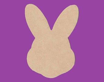 Lank medium MDF rabbit head support