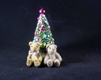 Christmas Teddy Bear Needle Felted