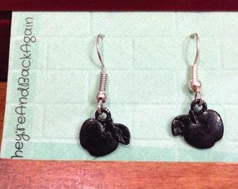 Black Apple Earrings