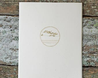 Wild Simplicity Daybook-Blank Booklet, Lined, Midori-style, inserts, recycled, natural, handmade