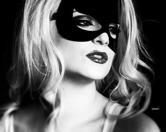 GATA latex masquerade devil/cat mask (solid)