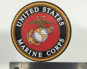 USMC : U.S. Marine Corps Seal Car Decal / Sticker - FREE SHIPPING (0032)