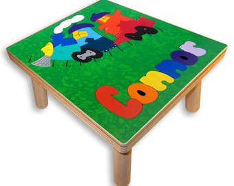 NAME PUZZLE STOOL | Train