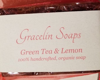 Green Tea Lemon Soap for body/face