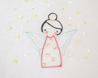 Little Fairy, Hand Embroidery PDF Pattern - Instand Digital Download // Hand Embroidery Design // Nursery Art // Needlecraft design