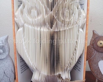Owl book folding pattern