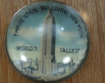 Empire State Building World's Tallest. Antique Paperweight.