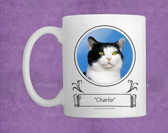 Purr-fect Prints  - Personalized Photo Coffee Mug for Pet Lovers - A Great Way To Show Off Your Cat or Kitten - Novelty Mug - Pet Memorial