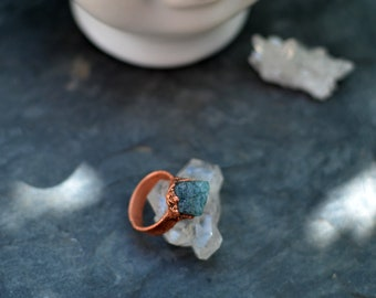 Apatite plated copper, Bohemian, vintage, handcrafted, tilae creations