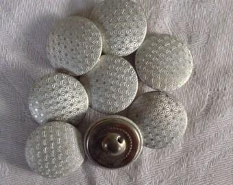 8 Vintage Metal Buttons