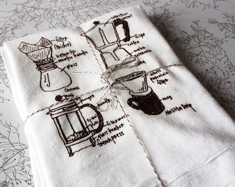 coffee lover floursack tea towel, coworker gift, gifts for men, coffee towel, coffee dish towel, coffee gift