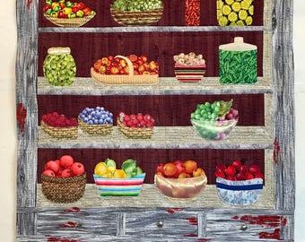 Fruit n Veggie Cupboard quilt pattern