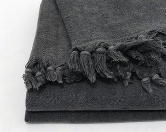 Turkish blanket, throw blanket, picnic blanket, handloomed blanket, stonewashed, throws for sofa, cotton coverlet, bedspread, bed covers