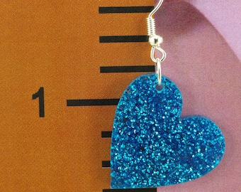 Heart Earrings - Choose your Color - By EP Laser