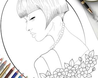 Page à colorier imprimables dans le profil
