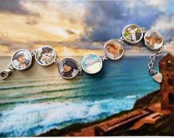 Poldark Ross Cornwall cameo charm bracelet