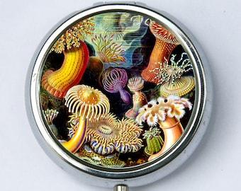 Sea anemone PILL case pillbox pill box holder underwater ocean sea nature calm pretty DIY