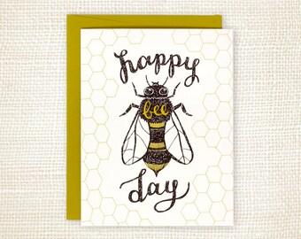 Birthday Card - Bee Day