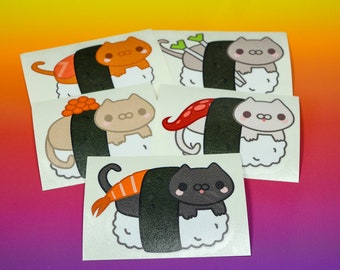 Sushi Cat Vinyl Stickers