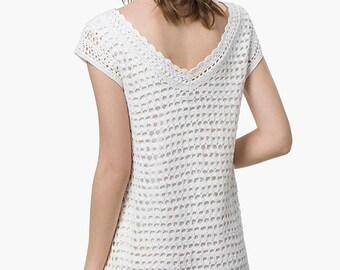 Crochet mini dress PATTERN, modern crochet patterns, detailed instructions in ENGLISH, easy crochet dress, minidress charts