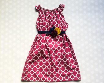 Sleeveless Plum Quatrefoil Dress - Girls Easter Dress - Girls Dress - Baby Girl Easter Dress - Easter Dresses for Girls - Easter Dresses