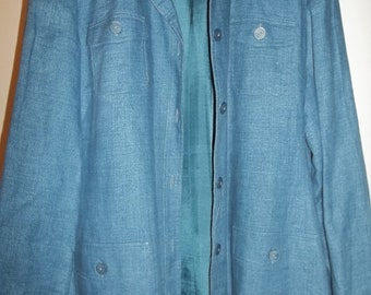 Blue Denim Jacket From Style & Co, Size  12,  Lightweight, Blue Denim Finish, Button Front, Casual  Jacket Sz 12