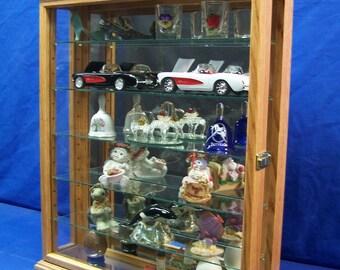 Wood/Glass Wall Curio Cabinet Display