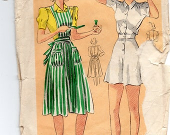 1940 Apron & Playsuit Pattern