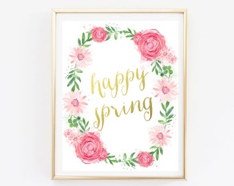 Happy Spring Poster Sign