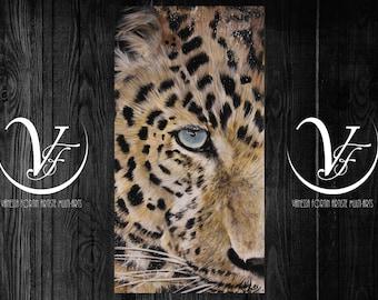 Persian look, acrylic, leopard, Cheetah, cat, cat, paint
