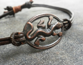 Ready to Ship Fashion Gift Bohemian Jewelry Boho Style Bracelet Lizard Reptile