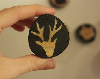 Wood magnet