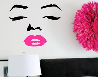 More Colors. Vinyl Wall Decal  Marilyn Monroe  ...