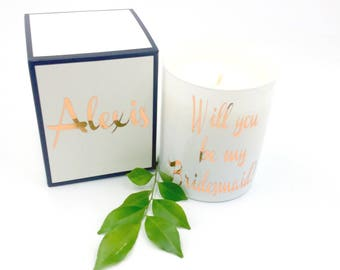 Bridesmaid proposal-gift boxed candle-scented soy candle-wedding candles gift-bridesmaid gift box-bridesmaid candle-Australia-personalised