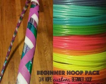 Beginner Hoop Starter Pack- 3/4 HDPE Beginner/Practice Hoop AND 5/8 Polypro Trick/Dance Hoop- Pick Your Colors!