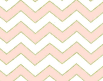 SALE - Michael Miller - Chic Chevron Pearlized in Confection