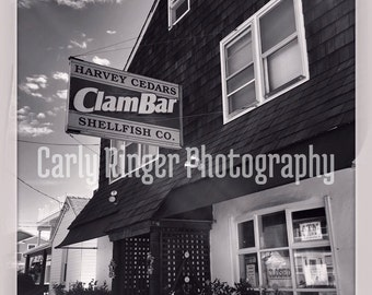 LBI: Harvey Cedars Clam Bar Tile Coaster