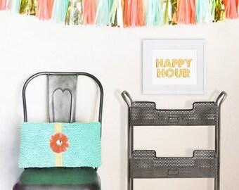 Foil Print - Happy Hour