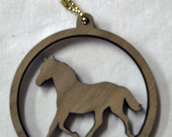 Horse Wood Ornament