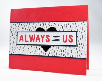 Red White & Black Love Card