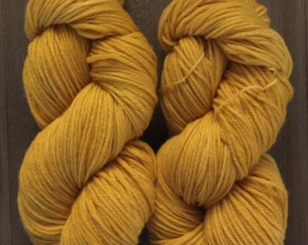 Hand Dyed Yarn Worsted weight available 100g   Bee Pollen